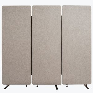 Acoustic Office Wall and Room Partition Dividers, 3-Pack in Misty Gray