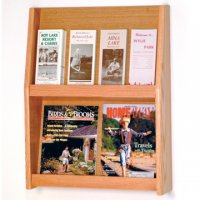 8 Pocket Literature Display - 2Hx4W - Light Oak