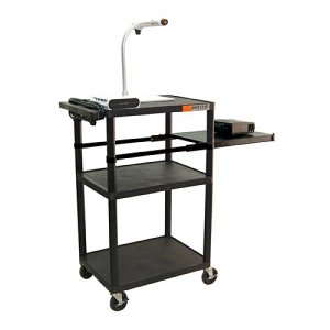 42 Inch Multimedia Cart with Pull-out Side Shelf - LP42PE-B