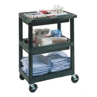 3 Tub Shelf Rolling Utility Cart with 6 Dividers - MTC30D/N