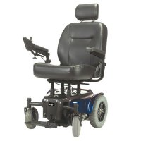 "Blue Medalist Heavy Duty Power Wheelchair with 22"" Captain's Seat"
