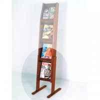 Optional Floor Stand for 4H Displays - Mahogany
