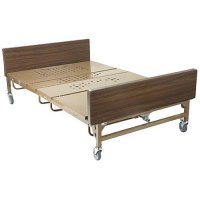 "Bariatric Electric Hospital Patient Bed - ""T"" Rails - 1000 lb Capacity"