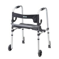 Clever Lite LS Rollator / Rolling Walker - Seat and Push Down Brakes