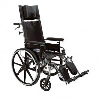12 Inch Viper Plus Light Weight Reclining Wheelchair - Desk Arms