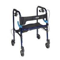 Clever Lite Adult Rollator / Rolling Walker with 5 Inch Casters