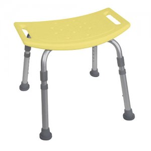 Bath and Shower Bench / Chair without Back - Aluminum Deluxe - Yellow
