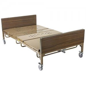 Bariatric Elec. Hospital Patient Bed - 1 pair T Rails - 48 inch Width