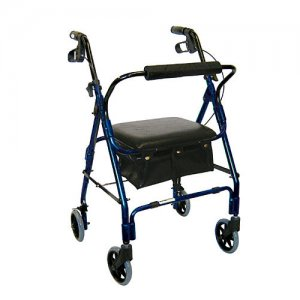 Mimi Lite Deluxe Rollator with Padded Seat and Loop Locks - Flame Blue