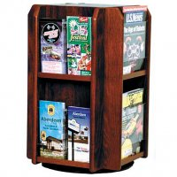 8 Pocket Rotating Countertop or Tabletop Literature Display Rack