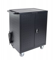 "Ipad, Laptop, Chromebook, up to 17"" Display, Charging Station Cart for 32 Devices with Timer"