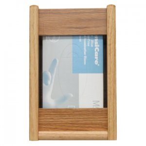 1 Pocket Glove/Tissue Box Holder - Rectangle - Light Oak