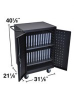 Ipad Tablet or Laptop Multi Charging Station, Cart Holds 24 Devices, Locking Storage