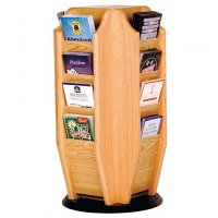 16 Pocket Rotating Countertop or Tabletop Brochure Display Rack