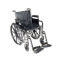 Silver Sport 2 Wheelchair with Detachable Desk Arms and Swing-Away Foo