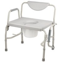 Oversized Bariatric Bedside Commode Chair with Drop Arm - Heavy Duty
