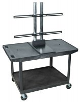 Flat Screen TV Stand, LCD or LED Flat Panel with Mount, Holds Up To 50 Inch, Presentation Cart