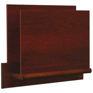 HIPAA Compliant Privacy Chart and File Holder, Open Ended, Square Wall Mount, 1 Pocket, Letter Size, Oak Wood Finish
