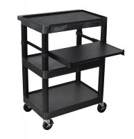 4 Shelf Overhead/Laptop Mobile Computer Cart - LT34