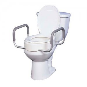 Toilet Seat Riser with Removable Arms - Premium Quality
