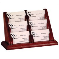 6 Pocket Countertop or Table Business Card Holder