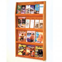 24 Pocket Literature Display - 4Hx6W - Medium Oak