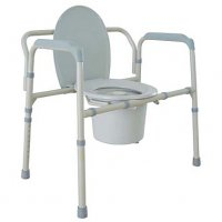 Deluxe Heavy Duty Bariatric Bedside Commode or Elevated Toilet Seat