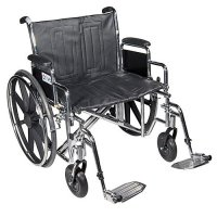 Sentra EC Wheelchair with Detachable Full Arms and Elevating Legrest