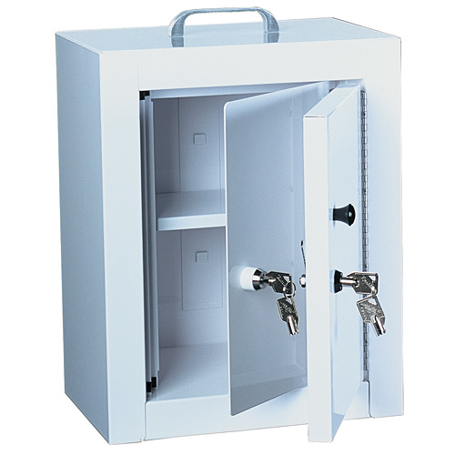 Genial Locking Narcotics / Medicine Cabinet   Double Door / Double Lock