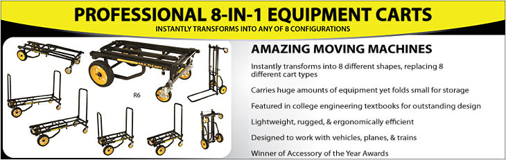 8-in-1 Equipment Transport Carts by Rock N Roller Multi-Carts