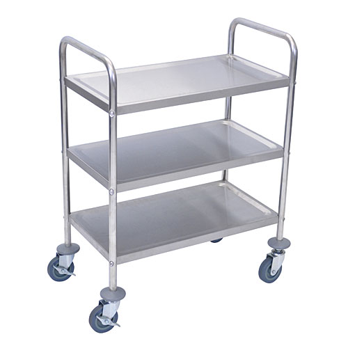 3 shelf stainless steel rolling utility cart l100s3