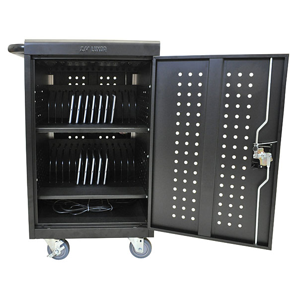 Ipad Tablet Or Notebook Multi Device Charging Station Cart 30 Tablets