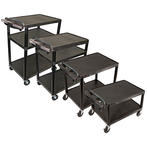 adjustable height inch plastic rolling utility cart 3 shelves u0026 - Rolling Utility Cart